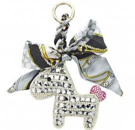 CRYSTAL HORSE KEYCHAIN SOMEH SILVER