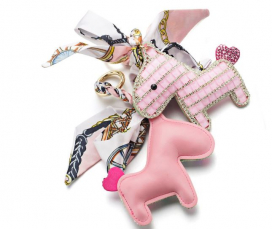 CRYSTAL HORSE KEYCHAIN SOMEH ROSA