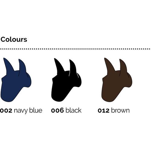 svart huva häst