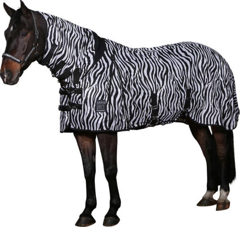 zebra täcke häst