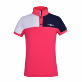 KLJEAN JUNIOR TEC PIQUE POLO SHIRT KINGSLAND RED GERANIUM