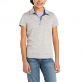 LAGUNA JUNIOR PIKÉ ARIAT HEATHER GREY