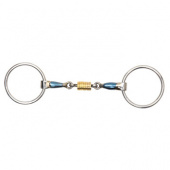 SHIRES BLUE ALLOY LOOSE RING WITH ROLLER LINK